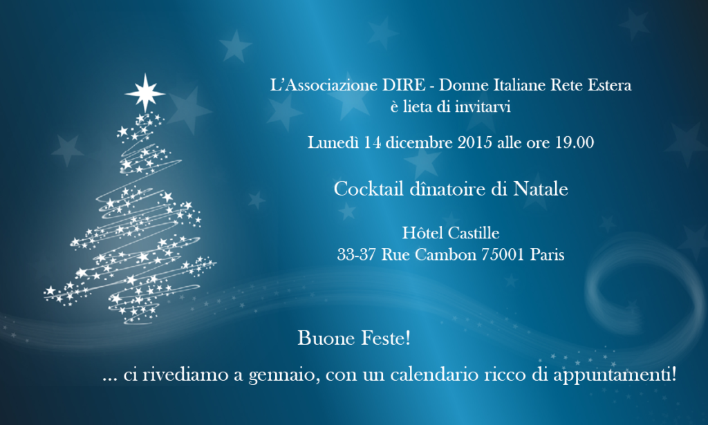 invito Cocktail Natale 2015